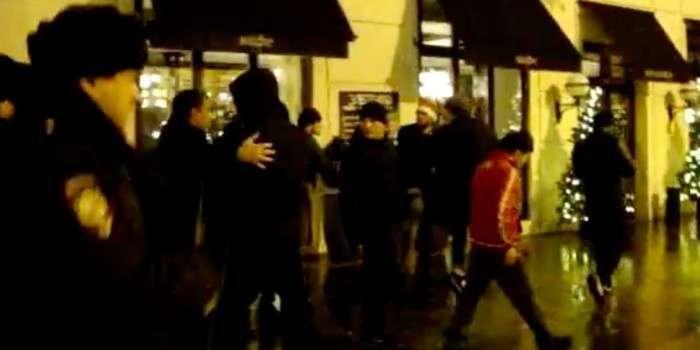 В новогоднюю ночь кавказцы избивали прохожих в центре Москвы