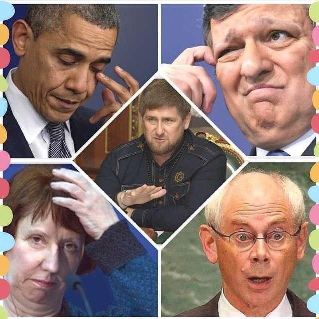 Рамзан Кадыров заморозит счета Обамы и Эштон на территории Чечни