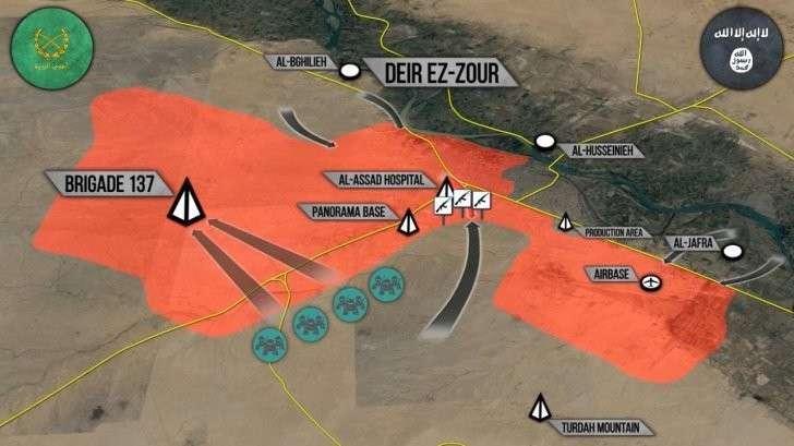 Военная обстановка в Сирии Прорыв ИГИЛ в Дейр-эз-Зор