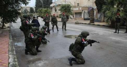 В Алеппо российские военные учат сирийцев тактике боя в городе