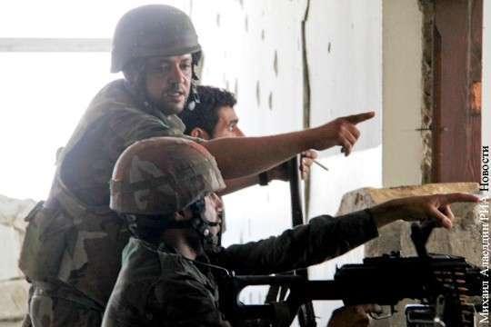 Сирийские войска начали наступление в районе Дейр-эз-Зора и Пальмиры