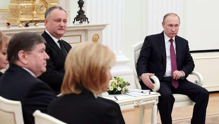 Владимир Путин и Игорь Додон заявили о восстановлении отношений между Россией и Молдавией
