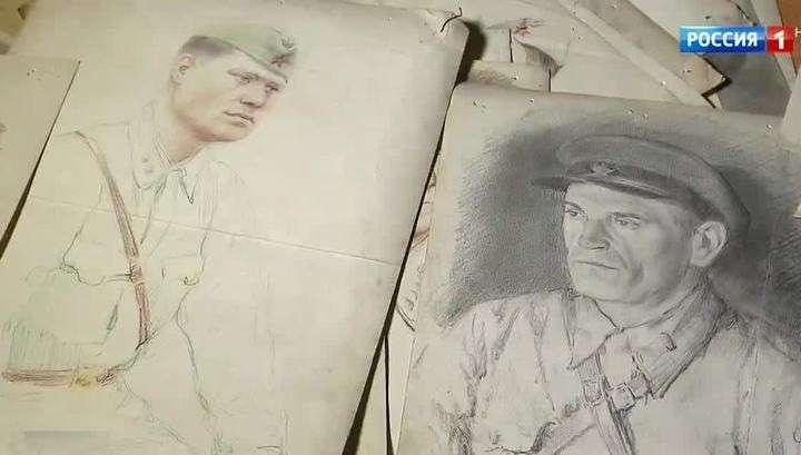 История войны в лицах: найдены уникальные портреты фронтового художника