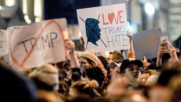 Американские СМИ огласили, сколько платят участникам протестов против Трампа