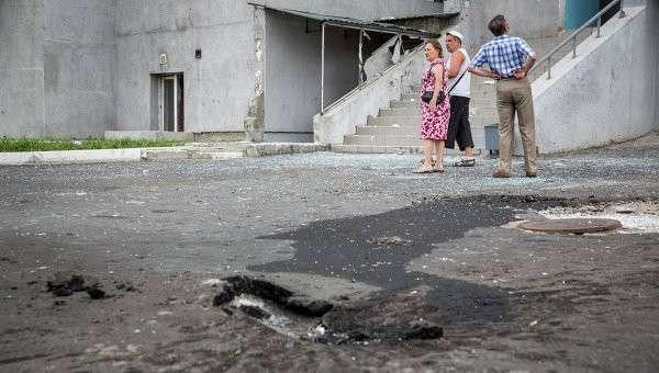 Жители Донецка после артобстрела