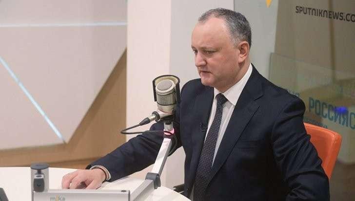 Президент Молдавии прокомментировал задолженность страны перед «Газпромом»