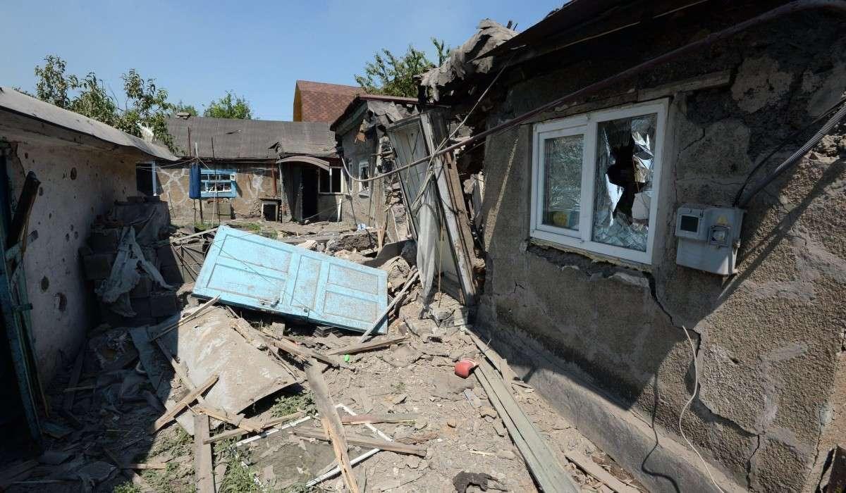 Из-за бомбёжек Горловка лишилась воды и электричества