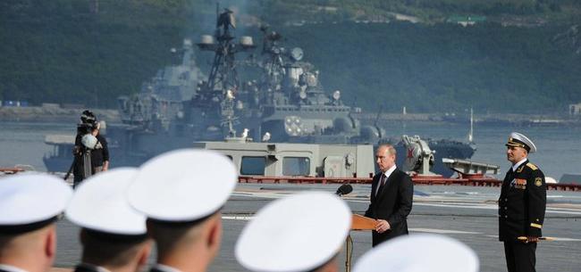 Выступление Владимира Путина в ходе посещения Североморска