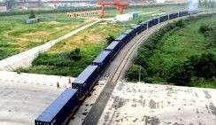 Грузовой поезд на железнодорожной станции около Пекина