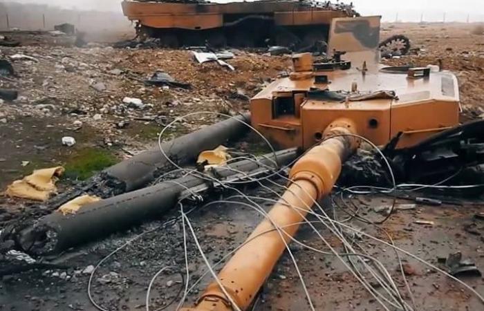 Аль-Баб: ИГИЛ сжгигает турецкие Леопарды