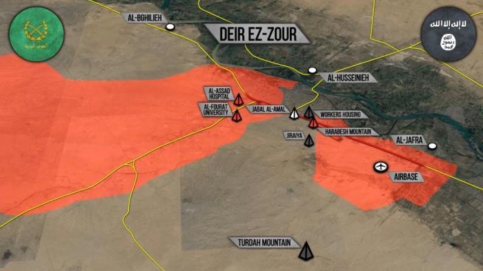 Военная обстановка в Сирии: Бои армии с ИГИЛ в Дейр-эз-Зоре и другие события