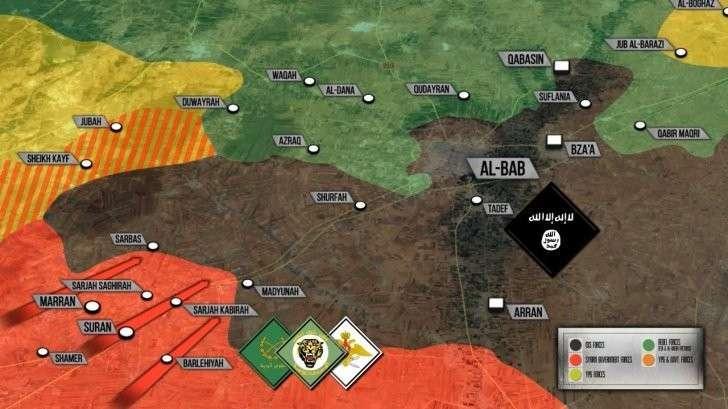 Эль-Баб: Наступление сирийской армии при поддержке ВКС России