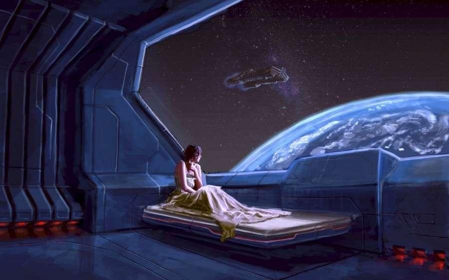 Девочка и окно в космос