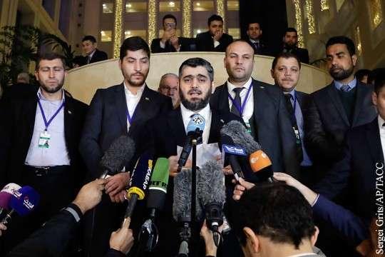 Переговоры в Астане: Сирийская оппозиция скатилась в расизм и истерику