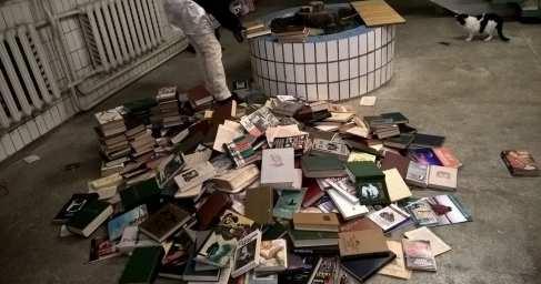 Четвертый рейх: в Киеве топят печи русскими книгами