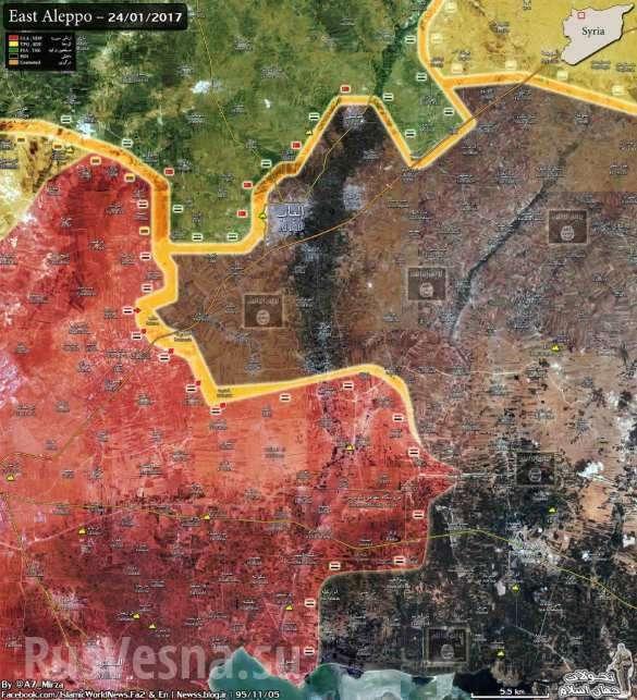 Коллапс ИГИЛ в Алеппо: «Тигры» и ВКС России взламывают оборону террористов и освобождают 19 поселков (ФОТО, ВИДЕО, КАРТА) | Русская весна