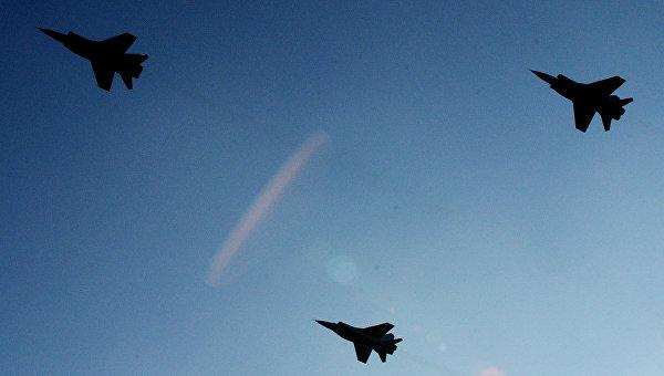 На Камчатке МиГ-31 провели «воздушный бой» на сверхзвуковых скоростях