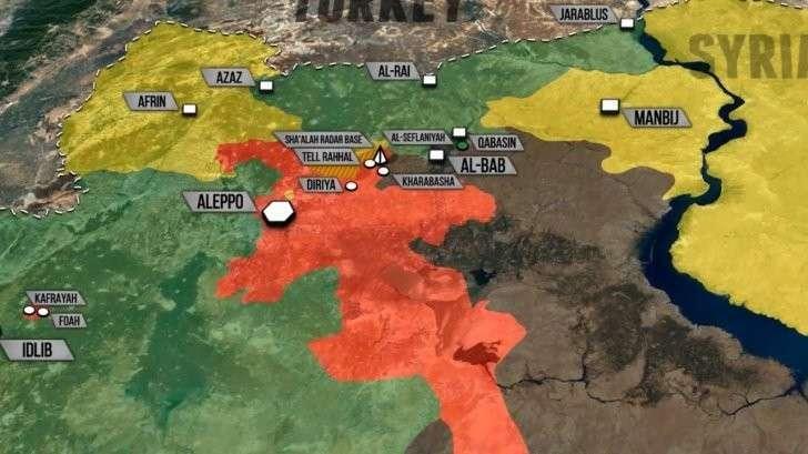 Военная обстановка в Сирии: освобождение пригородов Алеппо, успехи Турции у Эль Баб