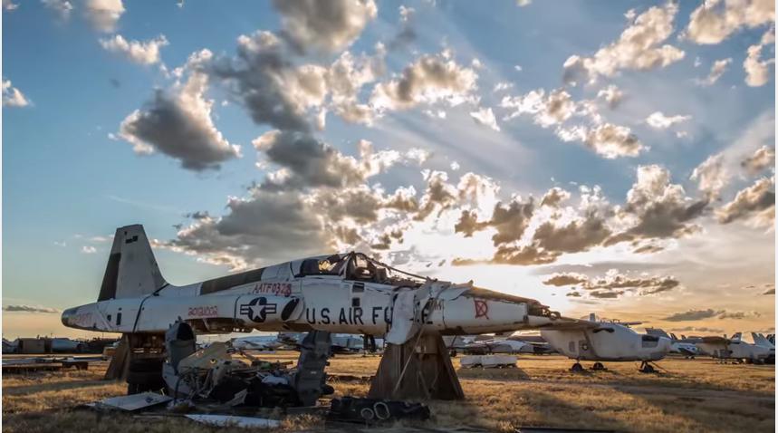 Видео крупнейшего в мире «кладбища» самолётов появилось в сети