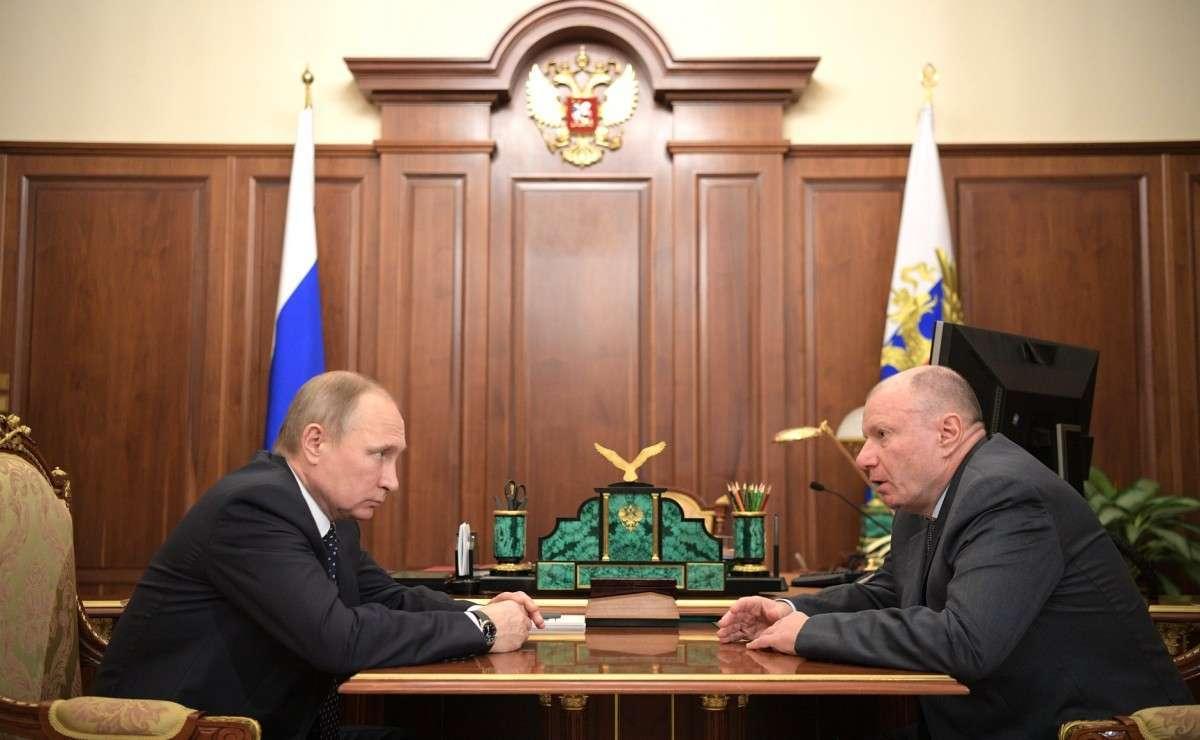Владимир Путин провёл встречу спредседателем правления ГМК «Норильский Никель» Владимиром Потаниным