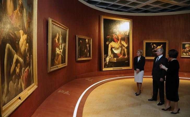 Вовремя посещения Третьяковской галереи.