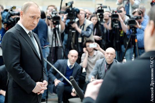 Владимир Путин. Россияне предпочитают слушать Президента без посредников