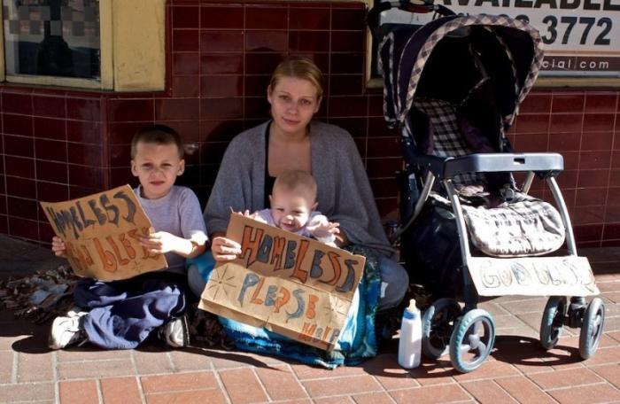 Почти половина детей США живёт в полной нищете
