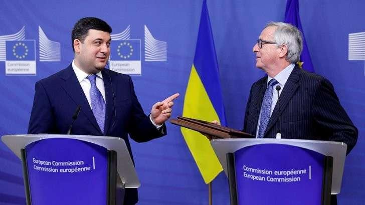 ЕC вновь обещает Украине финансовую помощь и безвизовый режим
