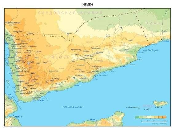 Карта Йемена