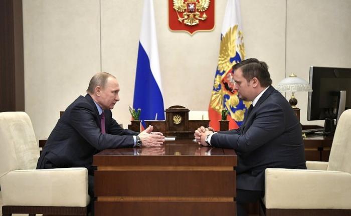 Состоялась рабочая встреча Владимира Путина с Андреем Никитиным