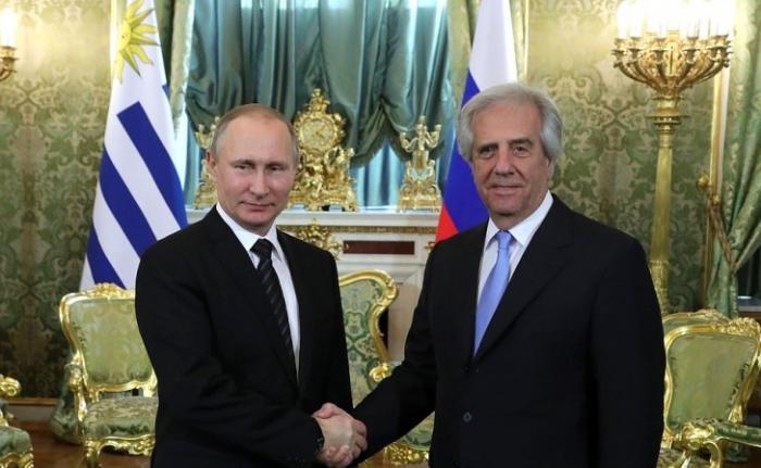 В Кремле состоялись переговоры Владимира Путина с Президентом Уругвая Табаре Васкесом
