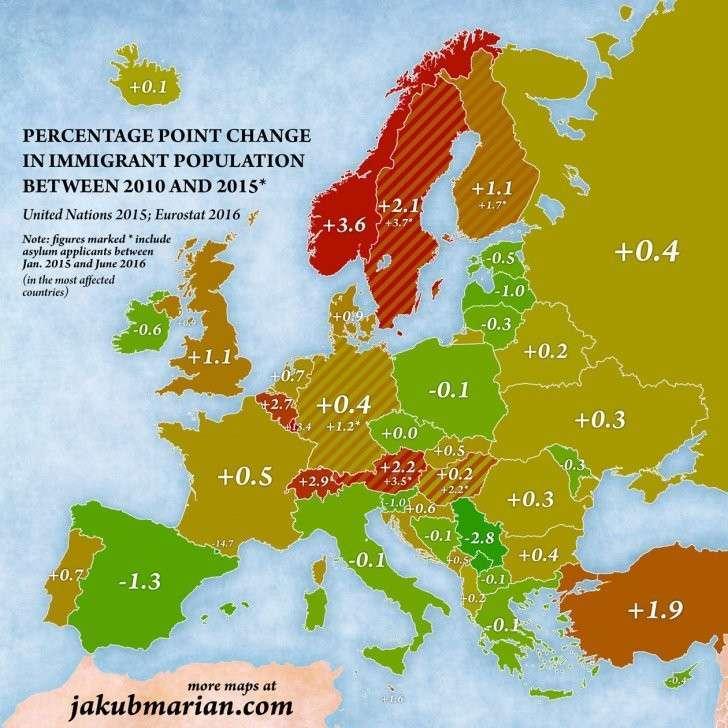 Эти карты полностью изменят ваши представления о миграции в Европе
