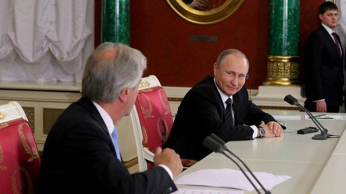 Заявления для прессы Владимира Путина и Табаре Васкеса поитогам российско-уругвайских переговоров