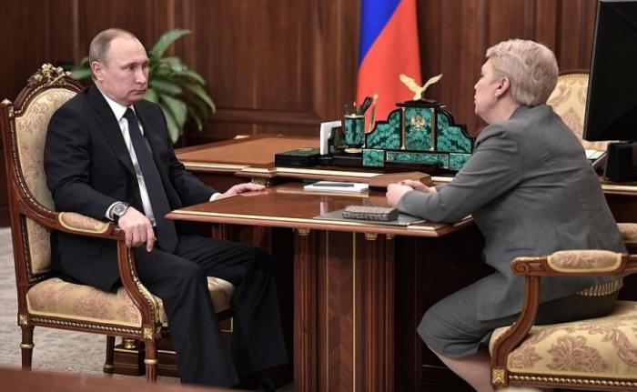 Владимир Путин провёл рабочую встречу сглавой Минобрнауки Ольгой Васильевой