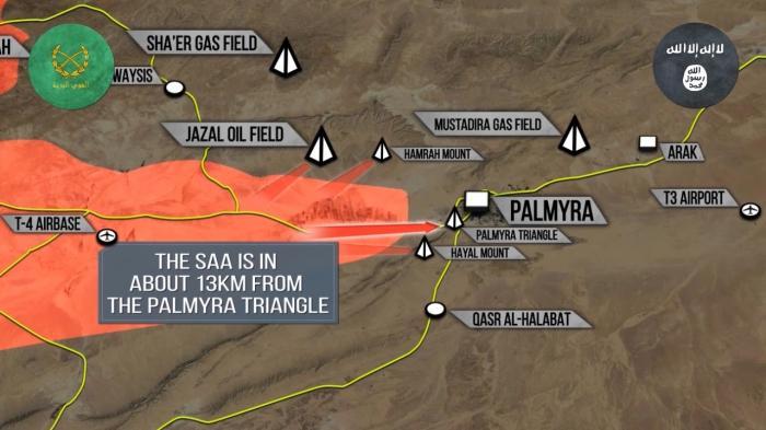 Сирия: до Пальмиры 13 км, Турки пытаются уговорить США не мешать им бить Курдов