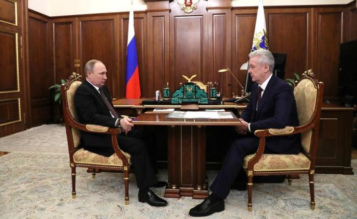 Владимир Путин провёл встречу смэром Москвы Сергеем Собяниным