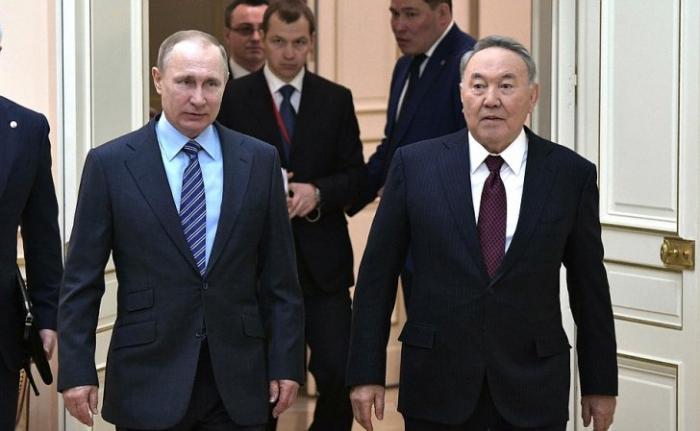 Переговоры Владимира Путина сПрезидентом Казахстана Нурсултаном Назарбаевым