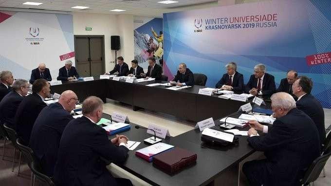Выступление насовещании оподготовке куниверсиаде 2019года