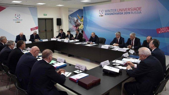 Владимир Путин провёл совещание о ходе подготовки к проведениюуниверсиады 2019года