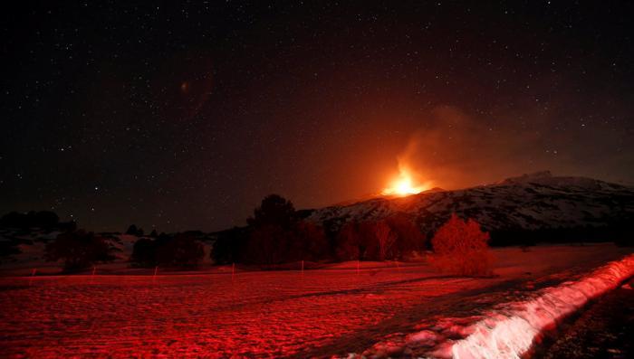 На Сицили началось извержение вулкана Этна