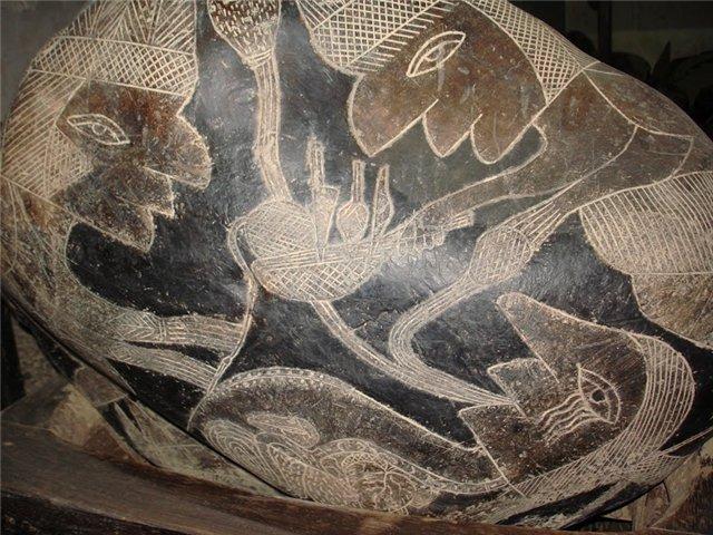 Изучение древних артефактов – «камней Ики» под микроскопом