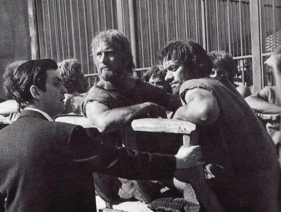 Стенли Кубрик на съемках. Рабы