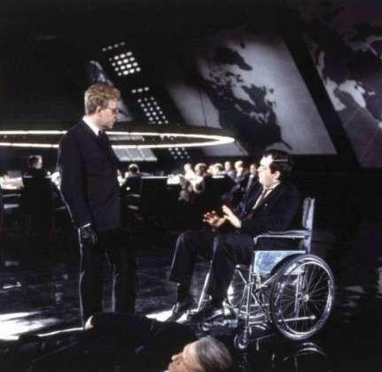Стенли Кубрик в кресле доктора Стренджлава