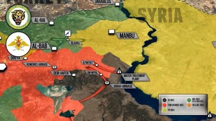 Сирия: столкновения между Турками и курдами у Манбиджа, правительственной армией