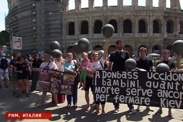 В память жертв бойни в Одессе по всей Европе в небо запустили чёрные шары