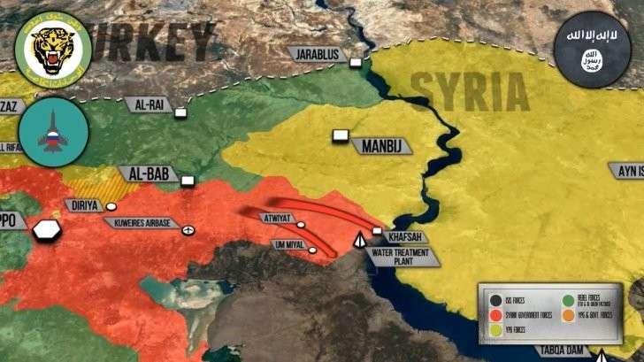 Сирия: правительственная армия контролирует водозабор у Евфрата и «отрезает» Дейр Хафер