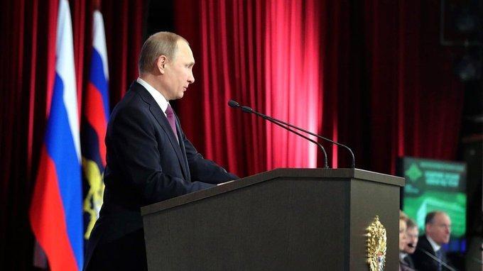 Выступление Владимира Путина на расширенной заседании коллегии МВД России