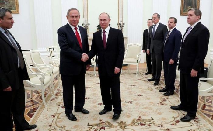 Встреча Владимира Путина сПремьер-министром Израиля Биньямином Нетаньяху