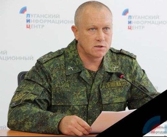 Начальник управления Народной милиции ЛНР полковник Олег Анащенко во время брифинга для журналистов