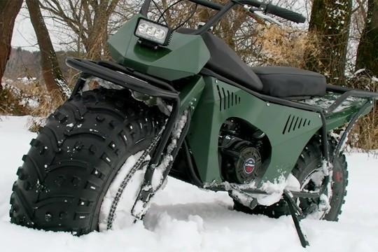 В России испытали сверхлегкий мотовездеход по снегу, грязи и воде